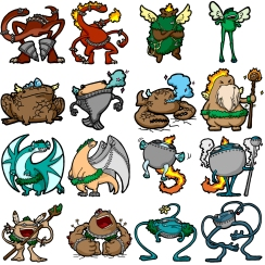 Character designs related to a Skylanders concept