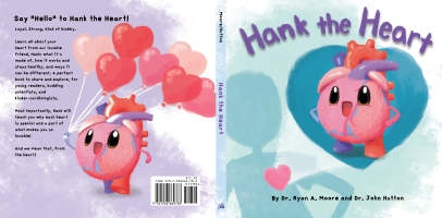 Illustrations for Hank the Heart, written by Dr. John Hutton & Dr. Ryan Moore, published by Blue Manatee. Not responsible for font, title or Blue Manatee logo. Hank is a painted over 3D model modeled by Matt Nelson, posed by me.