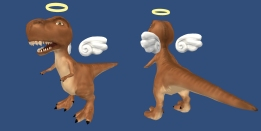 T-Rex Ghost: ZBrush, 3DsMax, Unity
