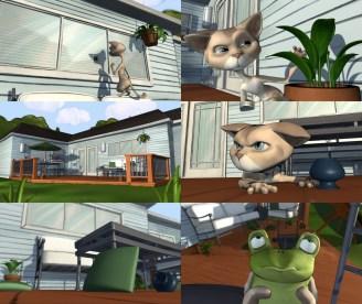 Meret & the Frog Short: Screenshots: Maya