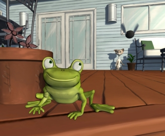 Meret & the Frog Short: Screenshots: Maya