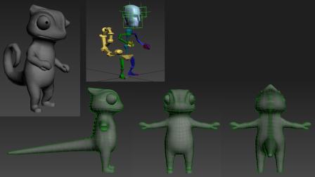 Color Thief: Chameleon Model: 3DsMax