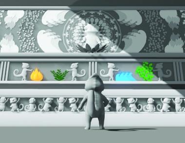 Color Thief: Chameleon Temple: 3DsMax, Unity
