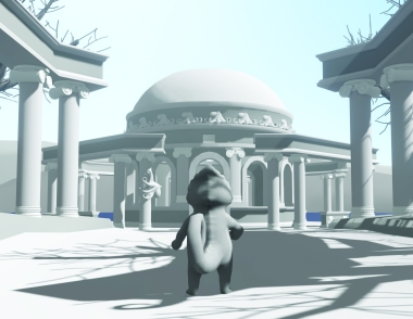 Color Thief: Octopus Temple Outside: 3DsMax, Unity