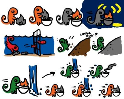 Game design concept exploration for Color Thief